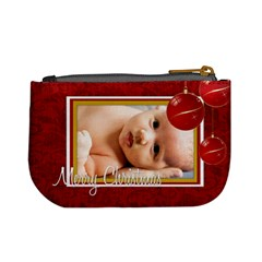 Merrychristmas By Wood Johnson   Mini Coin Purse   Migybvuhnato   Www Artscow Com Back
