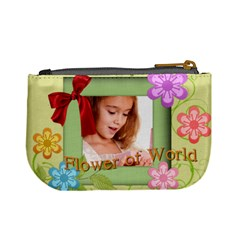 Flower Child By Joely   Mini Coin Purse   Rx4xvcyjxlya   Www Artscow Com Back