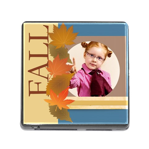 Fall Girl By Joely   Memory Card Reader (square)   9clp2fjpn2to   Www Artscow Com Front