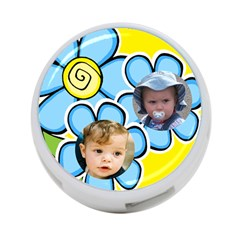 Little Flower 4 Port Hub By Deborah   4 Port Usb Hub (two Sides)   Bgrh9fshqslm   Www Artscow Com Front