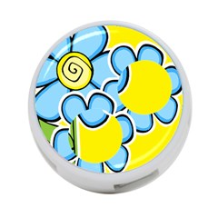 Little Flower 4 Port Hub By Deborah   4 Port Usb Hub (two Sides)   Bgrh9fshqslm   Www Artscow Com Back