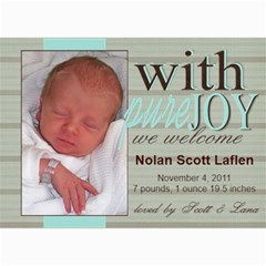 Welcome Baby! By Lana Laflen   5  X 7  Photo Cards   3iuvhcoaicia   Www Artscow Com 7 x5 Photo Card - 3