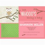 Whoo s Having a Baby! - 5  x 7  Photo Cards