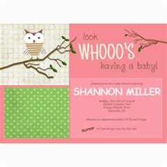 Whoo s Having A Baby! By Lana Laflen   5  X 7  Photo Cards   8q6ylzvx9dfl   Www Artscow Com 7 x5 Photo Card - 8