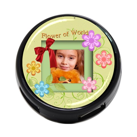 Flower Of World By Joely   4 Port Usb Hub (one Side)   Dv60g9gasrd7   Www Artscow Com Front