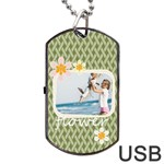 flower - Dog Tag USB Flash (Two Sides)