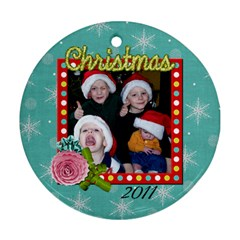 2 Sided Round 5 By Martha Meier   Round Ornament (two Sides)   07kw4opougd8   Www Artscow Com Front