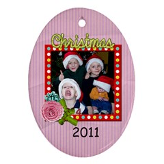 2 Sided Oval 3 By Martha Meier   Oval Ornament (two Sides)   Auduk052pkfq   Www Artscow Com Front