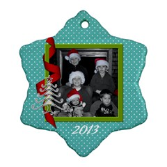 2 Sided Snowflake 3 By Martha Meier   Snowflake Ornament (two Sides)   0t28bdiuo6qr   Www Artscow Com Front
