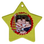 2-sided Star 1 - Star Ornament (Two Sides)