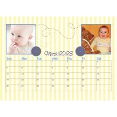 2016 Serenity Blue Desktop Calendar 8 5x6 By Picklestar Scraps   Desktop Calendar 8 5  X 6    Vrbzc66srpr6   Www Artscow Com Mar 2016