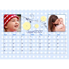 2016 Serenity Blue Desktop Calendar 8 5x6 By Picklestar Scraps   Desktop Calendar 8 5  X 6    Vrbzc66srpr6   Www Artscow Com Aug 2016