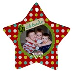 2-sided Star 2 - Star Ornament (Two Sides)
