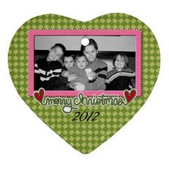 2 Sided Heart 2 By Martha Meier   Heart Ornament (two Sides)   2ztra1k2s8tl   Www Artscow Com Front