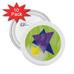 Jewish Star Menora 2.25  Button (10 pack)