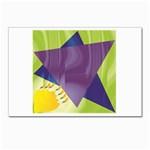 Jewish Star Menora Postcard 4 x 6  (Pkg of 10)