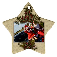 Two Sides: Ornament Christmas 4 By Jennyl   Star Ornament (two Sides)   P9tm0xcafe3b   Www Artscow Com Back