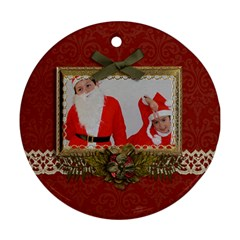 Round Ornament (two Sides): Christmas1 By Jennyl   Round Ornament (two Sides)   9emjsgtwtb3p   Www Artscow Com Front