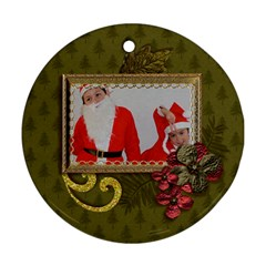 Round Ornament (two Sides): Christmas2 By Jennyl   Round Ornament (two Sides)   Sj8o5zluqaez   Www Artscow Com Front