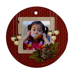Round Ornament (two Sides): Christmas4 By Jennyl   Round Ornament (two Sides)   Amc7htrmke1m   Www Artscow Com Front