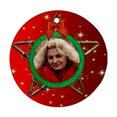 My Star Round Ornament (red) (2 Sided) By Deborah   Round Ornament (two Sides)   Zm5mk3djp4bd   Www Artscow Com Front