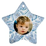 My Ice Blue Star Snowflake (2 sided) - Star Ornament (Two Sides)