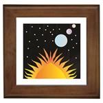 Cosmos Framed Tile