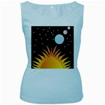 Cosmos Women s Baby Blue Tank Top