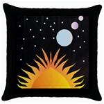 Cosmos Throw Pillow Case (Black)