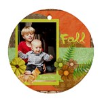 fall flower - Round Ornament (Two Sides)