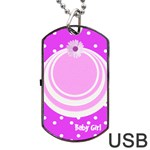 My Baby Girl dogtag usb - Dog Tag USB Flash (One Side)