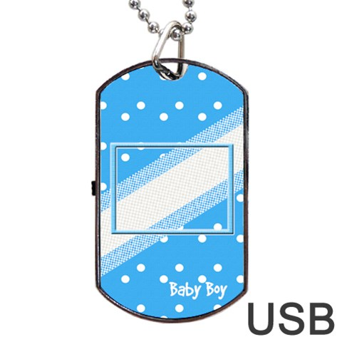My Baby Boy Dogtag Usb 1s By Daniela   Dog Tag Usb Flash (one Side)   7vmhvia6p81e   Www Artscow Com Front
