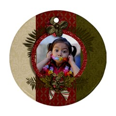 Round Ornament (two Sides): Christmas6 By Jennyl   Round Ornament (two Sides)   Sfk71bu4ba9y   Www Artscow Com Back