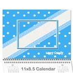 Happy Family Calendar - Wall Calendar 11  x 8.5  (12-Months)