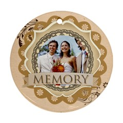 Memory By Joely   Round Ornament (two Sides)   1w44bec7exy6   Www Artscow Com Back