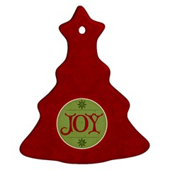 Red Joy Ornament By Jen   Christmas Tree Ornament (two Sides)   9lcxag4uzczm   Www Artscow Com Back