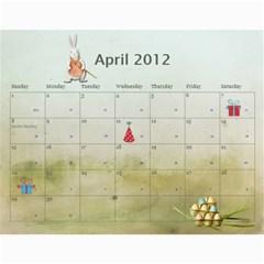 2012 Calendar   3kids By Tiffany   Wall Calendar 11  X 8 5  (12 Months)   5pw5nobw70bi   Www Artscow Com Apr 2012