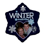 Winter Wonderland Double Sided Snowflake ornament - Snowflake Ornament (Two Sides)
