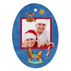 Merry Christmas Cookie 2011 Double Sided Oval Ornament By Catvinnat   Oval Ornament (two Sides)   Vky42n4szodm   Www Artscow Com Back