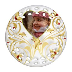 Gold Scroll (2 Sided) Filigree Ornament By Deborah   Round Filigree Ornament (two Sides)   7x4we0xbna1h   Www Artscow Com Back