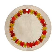 Autumn Glory Round Double Sided Ornament By Catvinnat   Round Ornament (two Sides)   C6gdrvq3glvu   Www Artscow Com Back