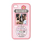 Friend Apple iPhone 4 Case (Pink) - Apple iPhone 4 Case (Color)