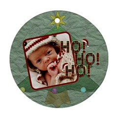 Ho Ho Ho Round Ornament (2 Sides) By Lil    Round Ornament (two Sides)   V5jqp20zcau7   Www Artscow Com Front