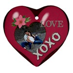 Love Heart Ornament (2 Sides) - Heart Ornament (Two Sides)