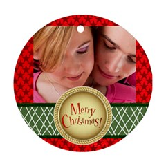 Xmas By May   Round Ornament (two Sides)   Vf5u84818ckb   Www Artscow Com Front
