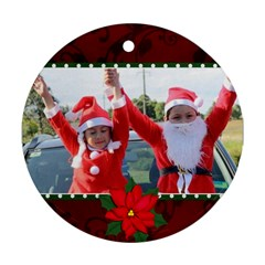 Round Ornament (two Sides): Holidays1 By Jennyl   Round Ornament (two Sides)   Dj86x6dpm7gk   Www Artscow Com Front