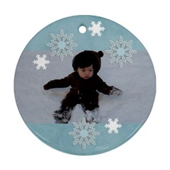 Round Ornament (two Sides): Holidays5 By Jennyl   Round Ornament (two Sides)   M05ei4pccrg6   Www Artscow Com Back