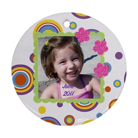 June By Rebecca Turner   Ornament (round)   Zloyss7wwhsk   Www Artscow Com Front