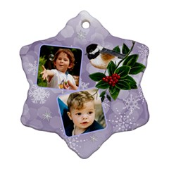 Little Robin Snowflake Ornament (2 Sided) By Deborah   Snowflake Ornament (two Sides)   Vibcwv2wrnte   Www Artscow Com Back