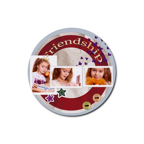 Friendship By Joely   Rubber Coaster (round)   Ac8zooo2wlw5   Www Artscow Com Front